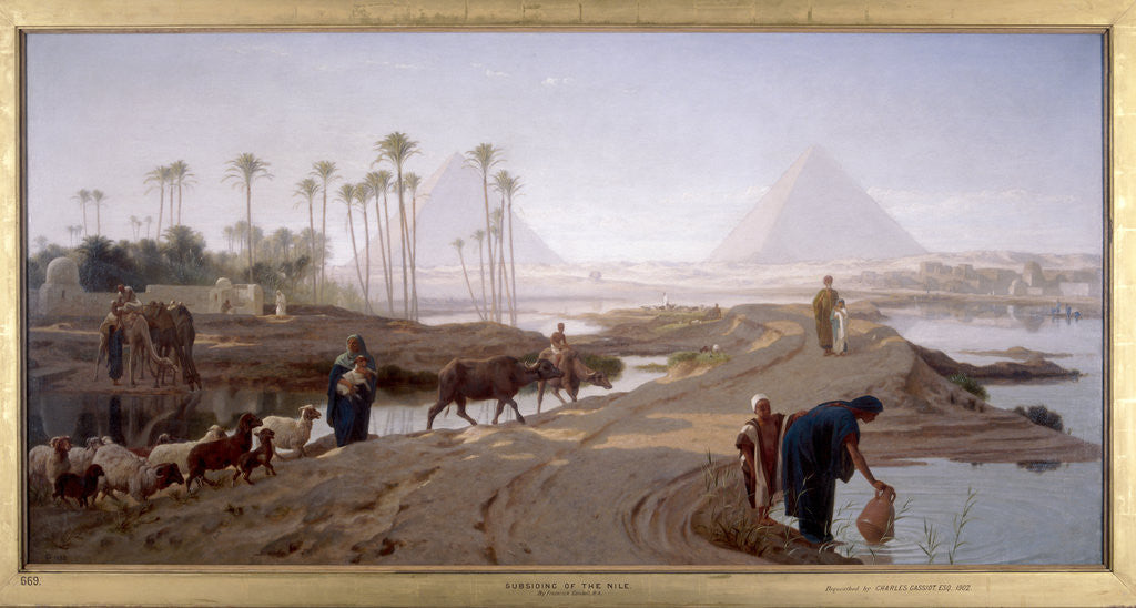 Detail of The subsiding of the Nile by