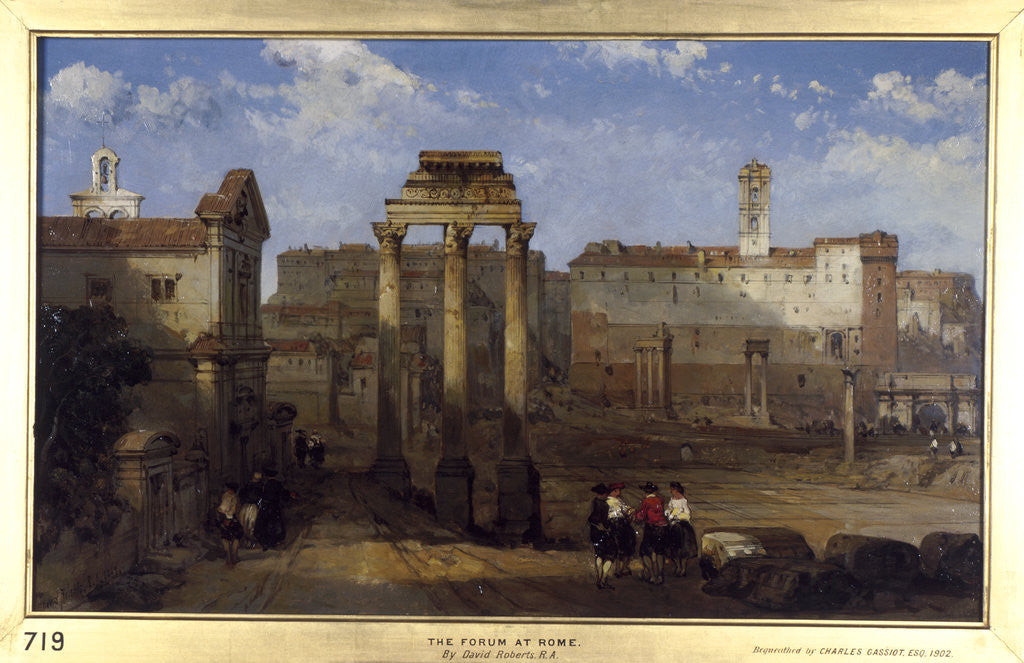 Detail of The Forum, Rome by David Roberts