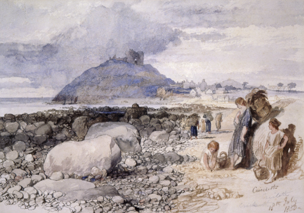 Detail of Criccieth, Wales by Sir John Gilbert