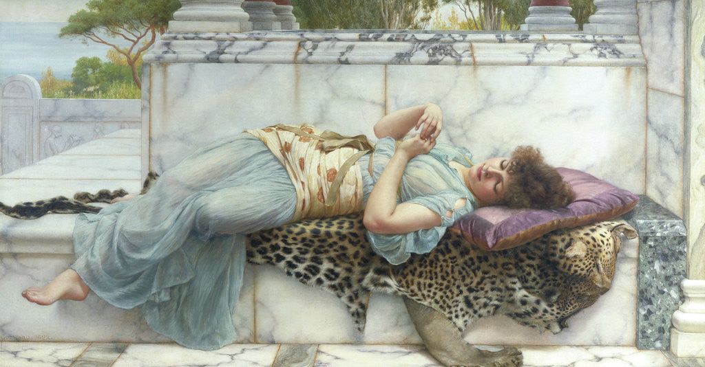 Detail of The Betrothed by John William Godward