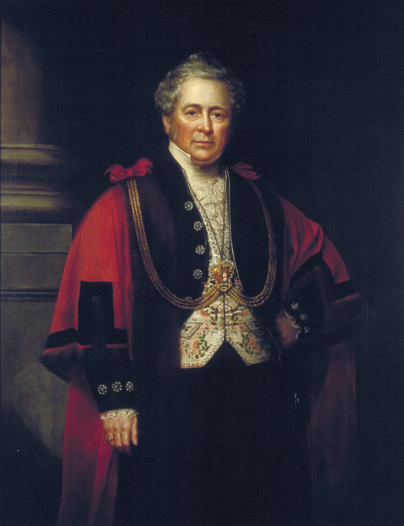 Detail of William Hunter, Lord Mayor 1852 by Anonymous