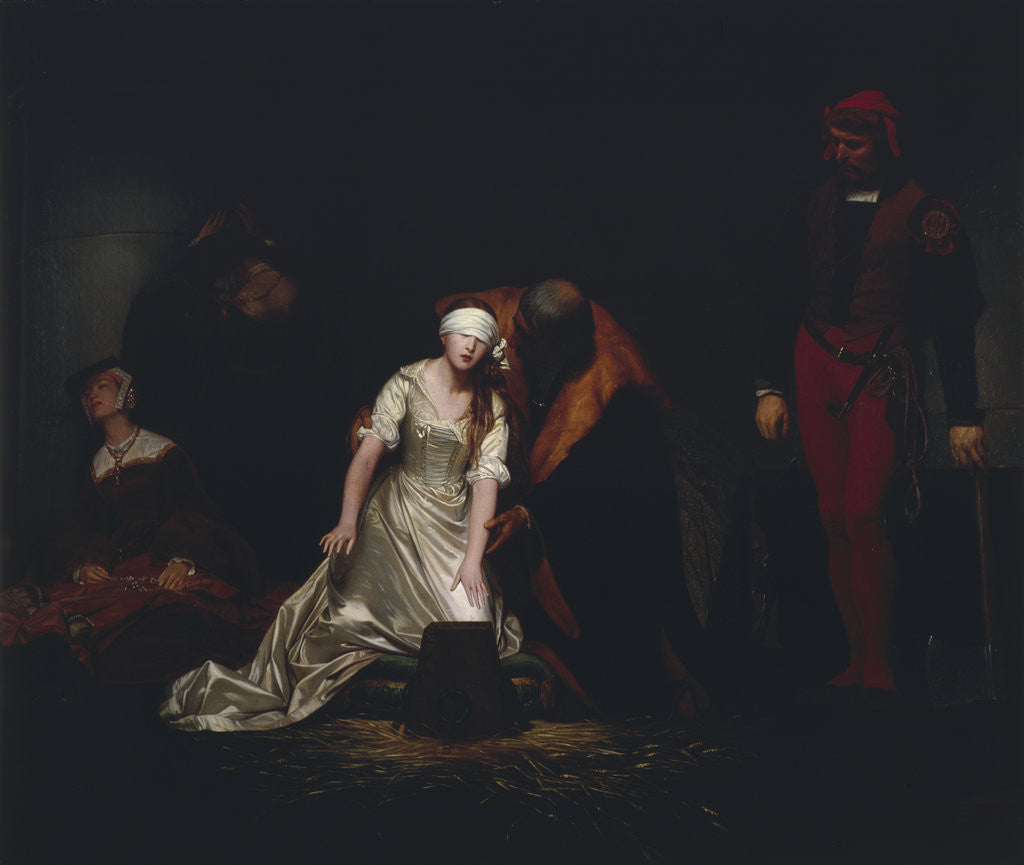 Detail of The Execution of Lady Jane Grey by Paul Delaroche