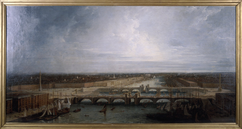 Detail of Double London Bridge proposed for London by George Dance