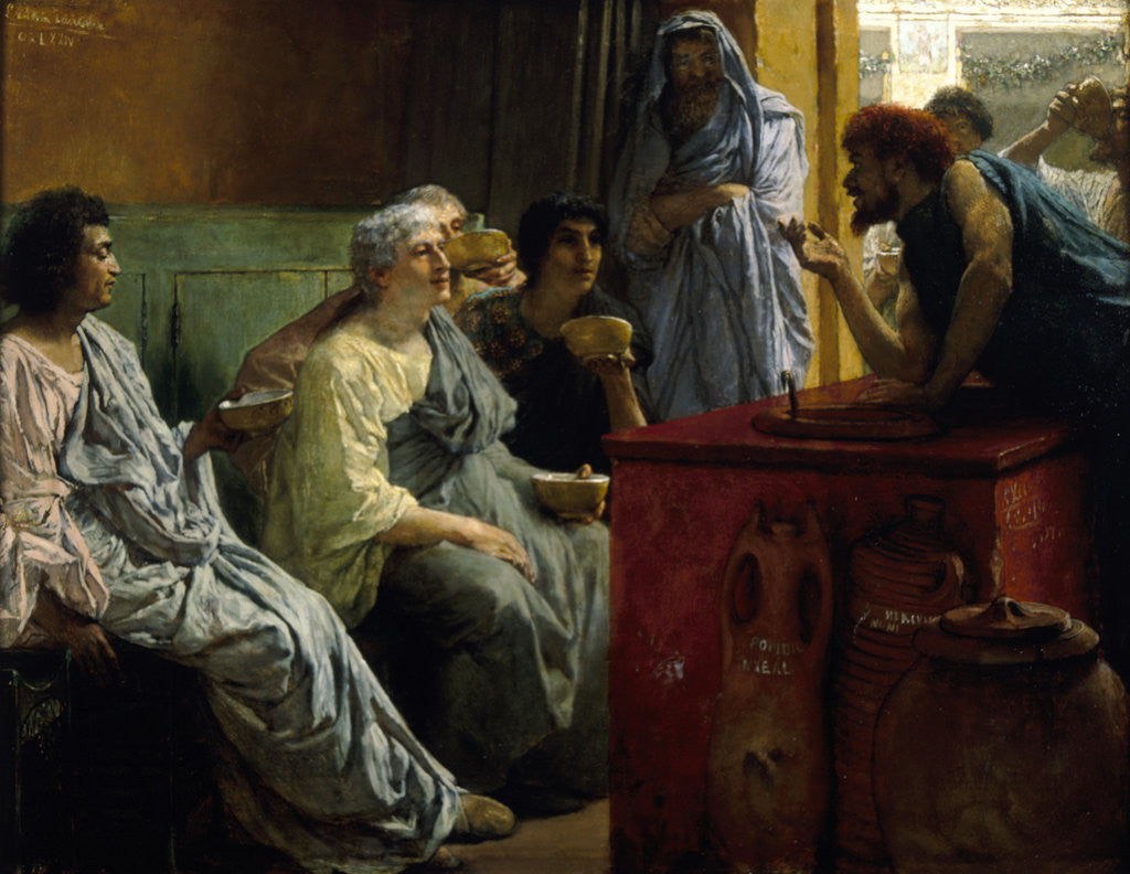 Detail of The Wine Shop by Sir Lawrence Alma-Tadema