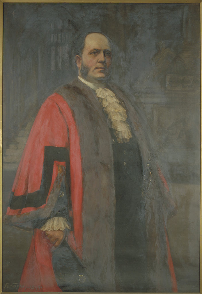 Detail of Sir Thomas Vezey Strong, Lord Mayor 1910 by