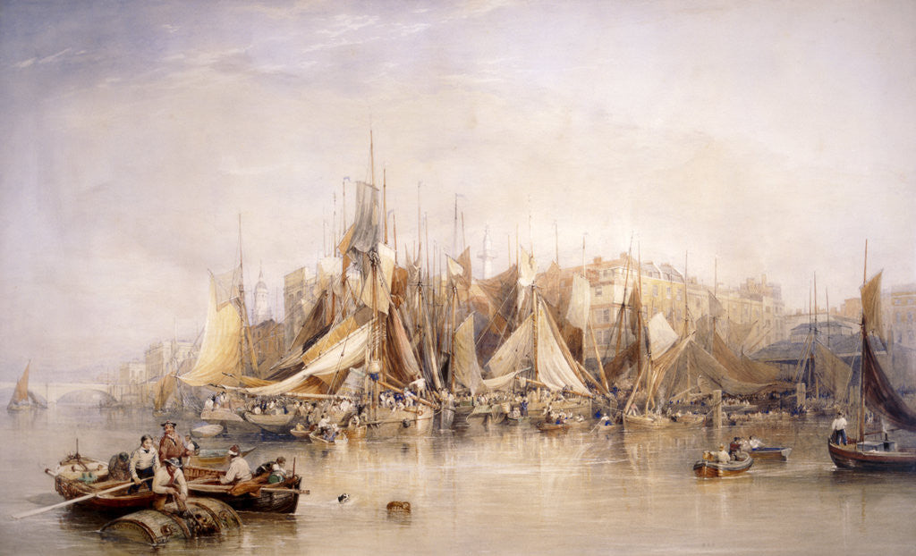 Detail of Billingsgate, First Day of Oysters, Early Morning by Edward Duncan
