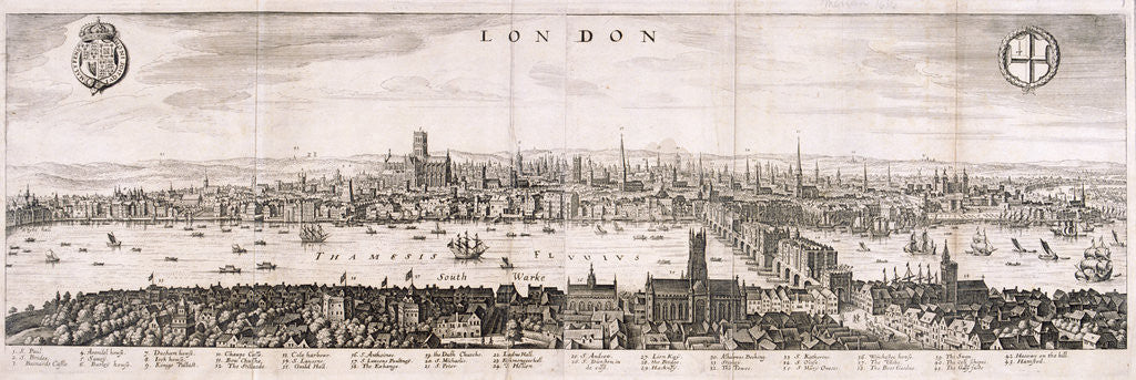 Detail of View of London from the south by Anonymous