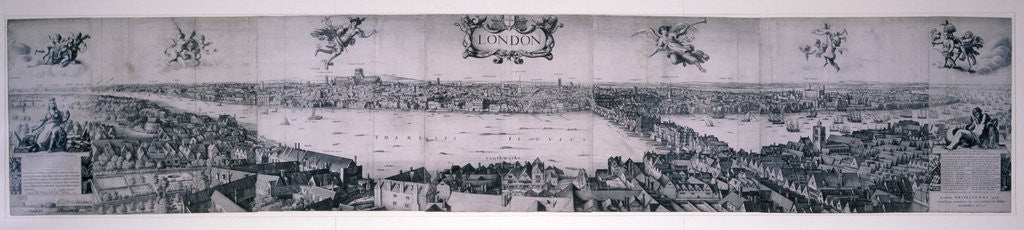 Detail of View of London from the south by Robert Martin