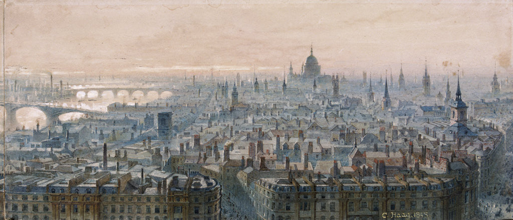 Detail of View of London by
