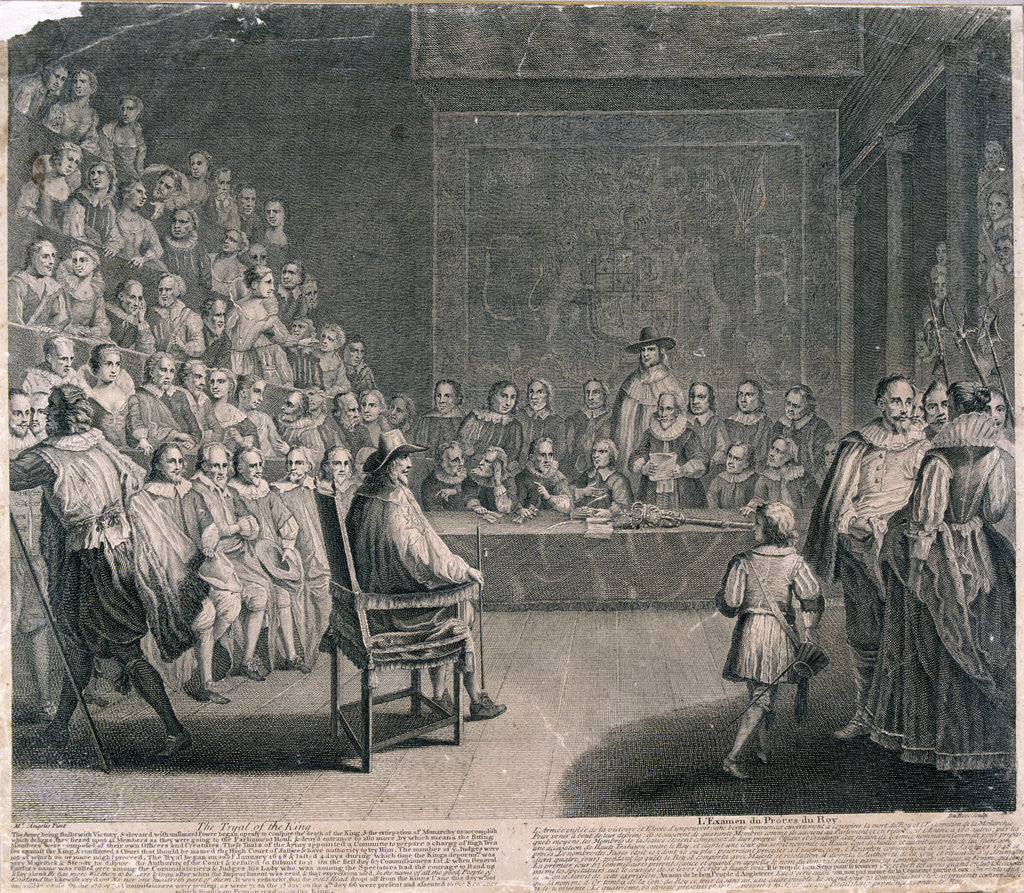 Detail of Trial of King Charles I, Palace of Westminster by