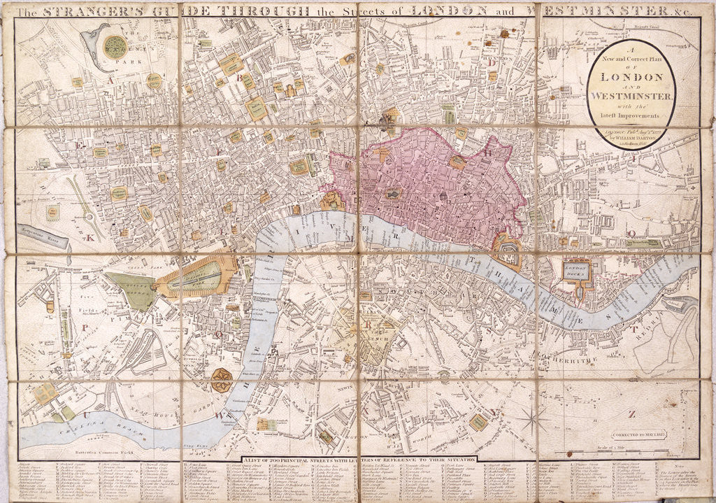 Detail of Map of London by