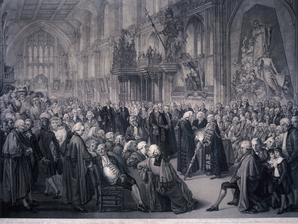Detail of Inaugaration of Lord Mayor Nathaniel Newnham, London by Benjamin Smith