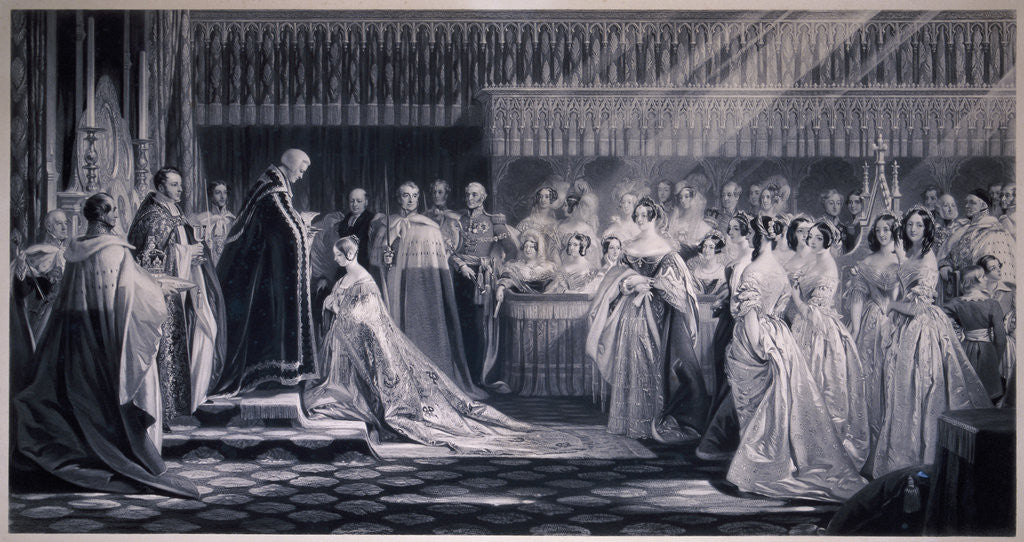 Detail of Queen Victoria's Coronation by Samuel Cousins