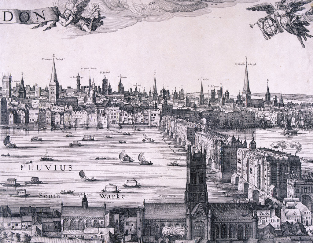 Detail of Panorama of London by