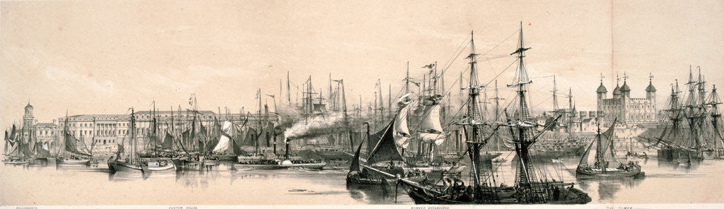 Detail of Panoramic view of London by Anonymous