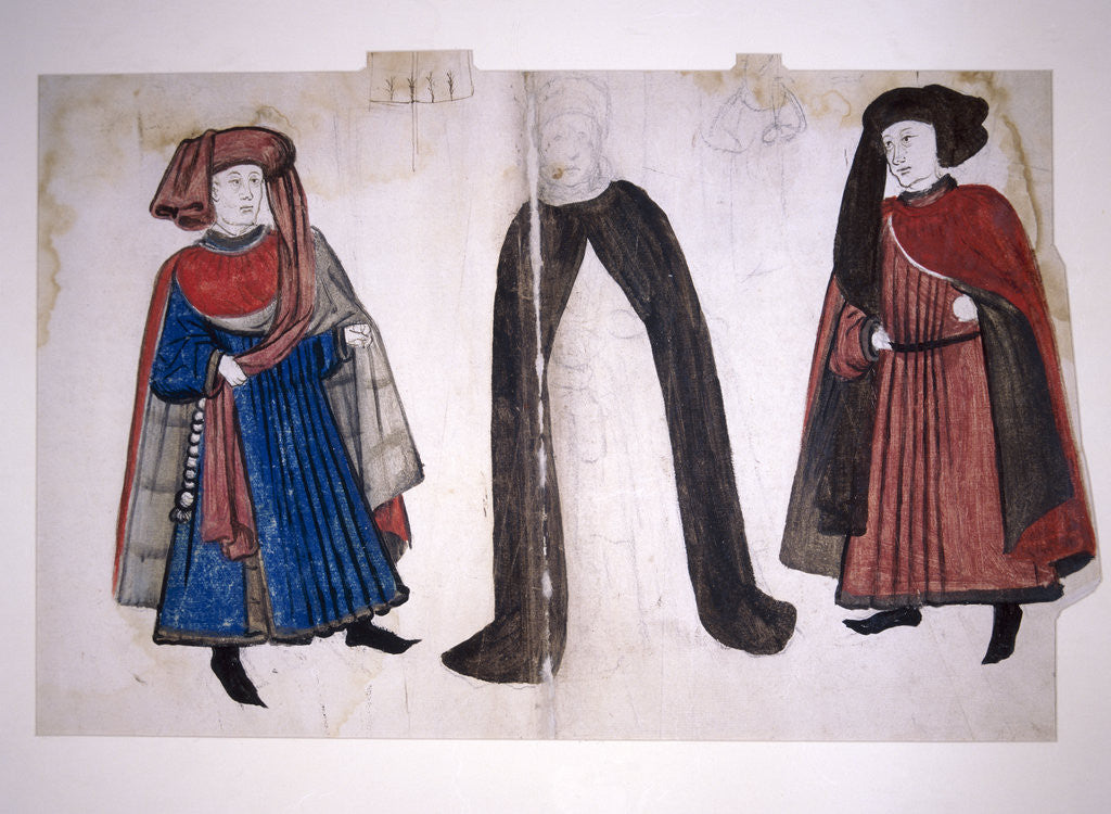 Detail of Medieval figures by
