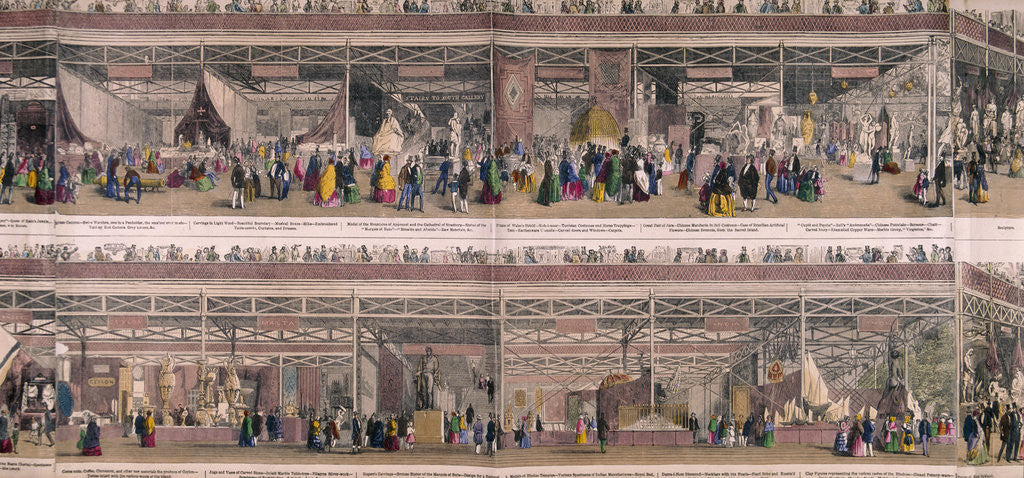 Detail of Great Exhibition, Crystal Palace, Hyde Park, London by Anonymous