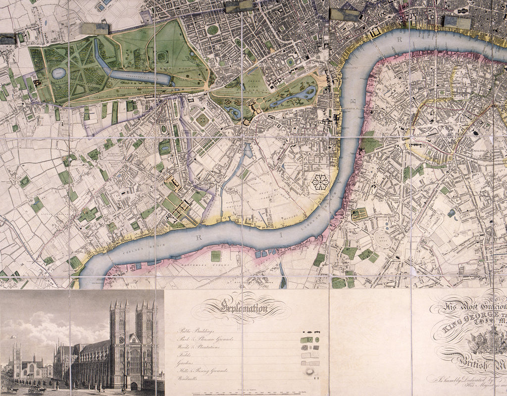 Detail of Map of City of London, Westminster and Southwark by James Neele
