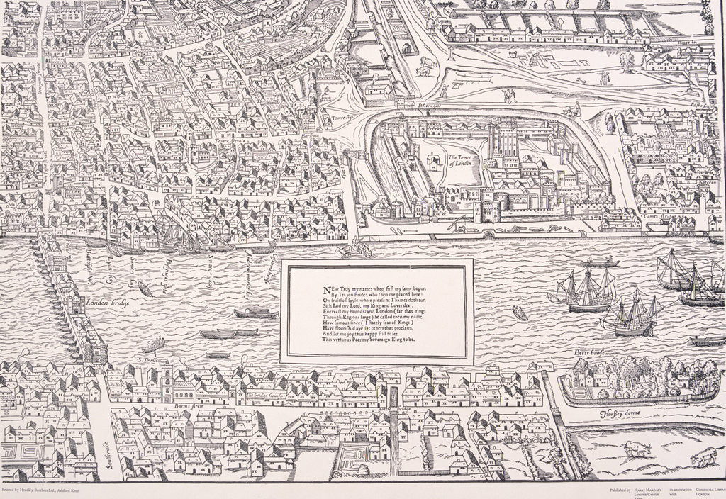 Detail of Agas' Map of London by Anonymous