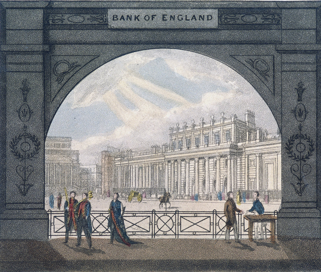 Detail of Bank of England, Threadneedle Street, London by Anonymous