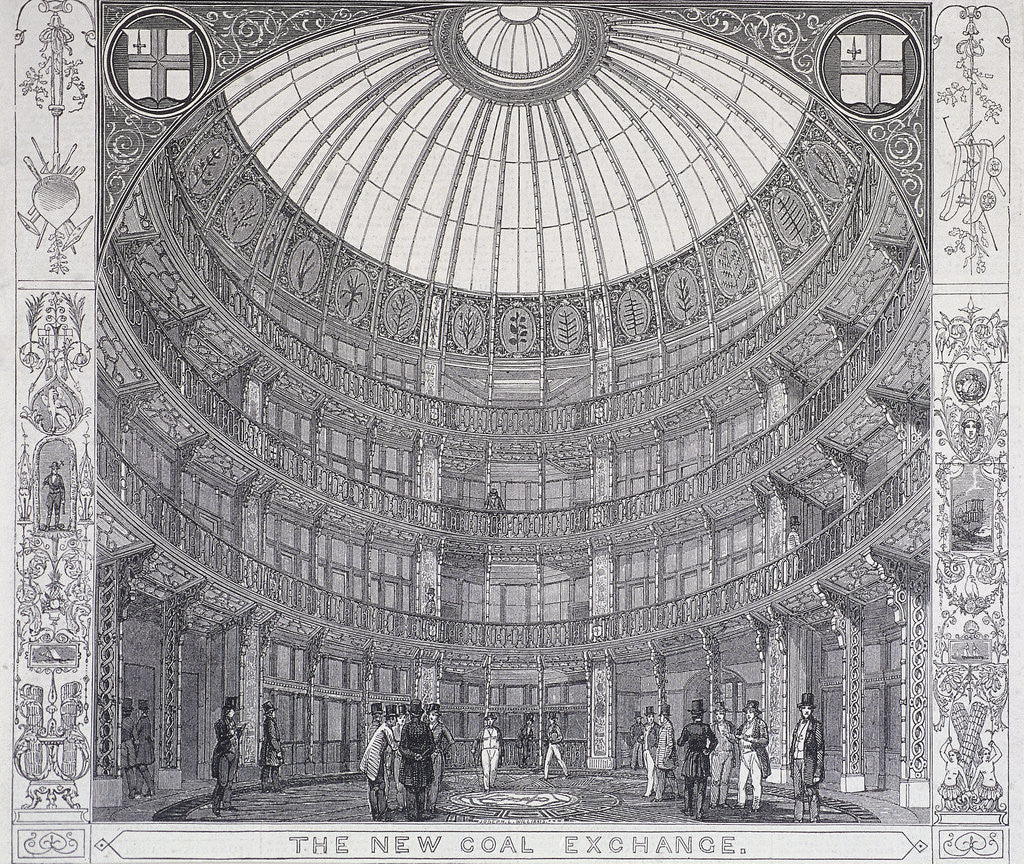 Detail of Coal Exchange, London by