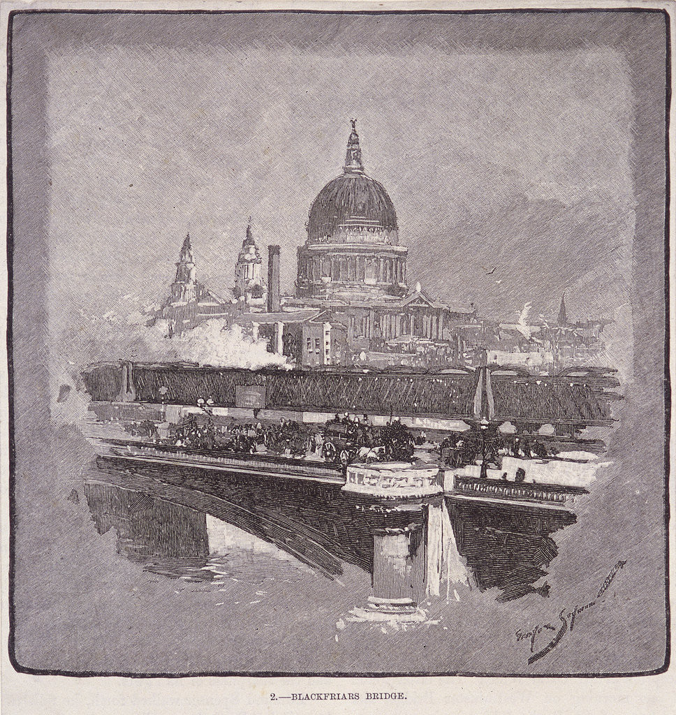 Detail of Blackfriars Bridge, London by James Walker
