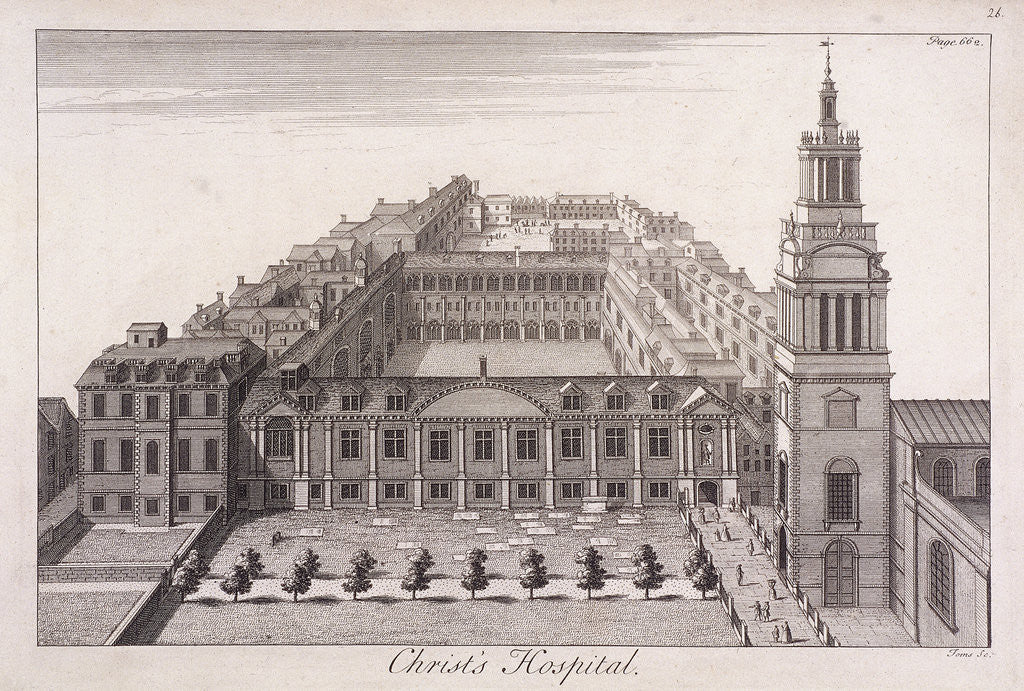 Detail of Christ's Hospital, London by