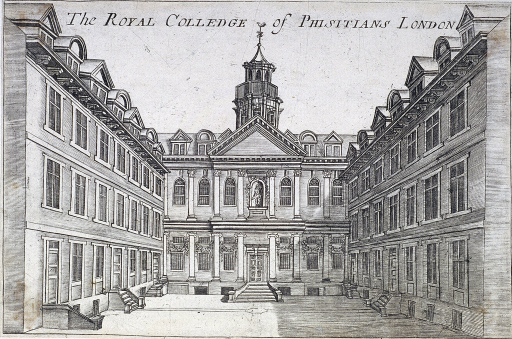 Detail of College of Physicians, London, c1710 by