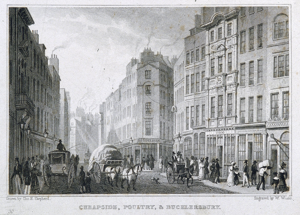 Detail of Cheapside, London by Anonymous