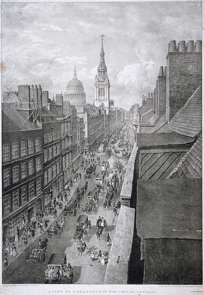 Detail of Cheapside, London by Thomas Mann Baynes