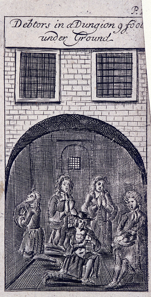 Detail of Fleet Prison, London by Anonymous