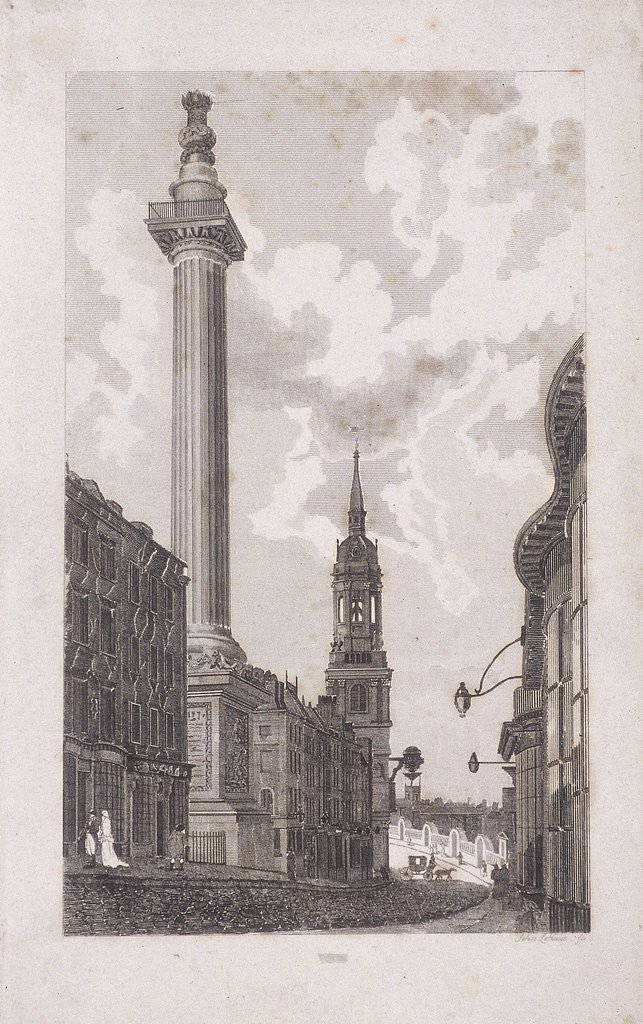 Detail of Fleet Street and Chancery Lane, London by