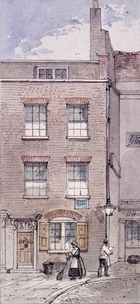 Detail of Gunpowder Alley, London by James Findlay