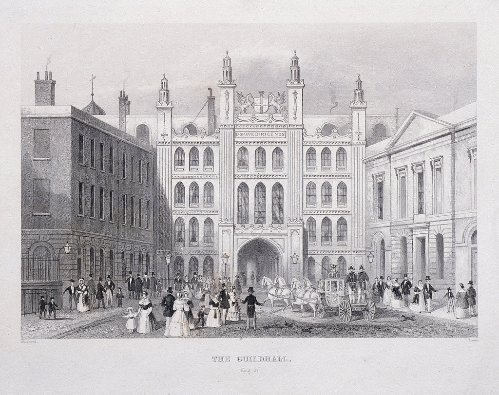Detail of Guildhall, London by S Lacey