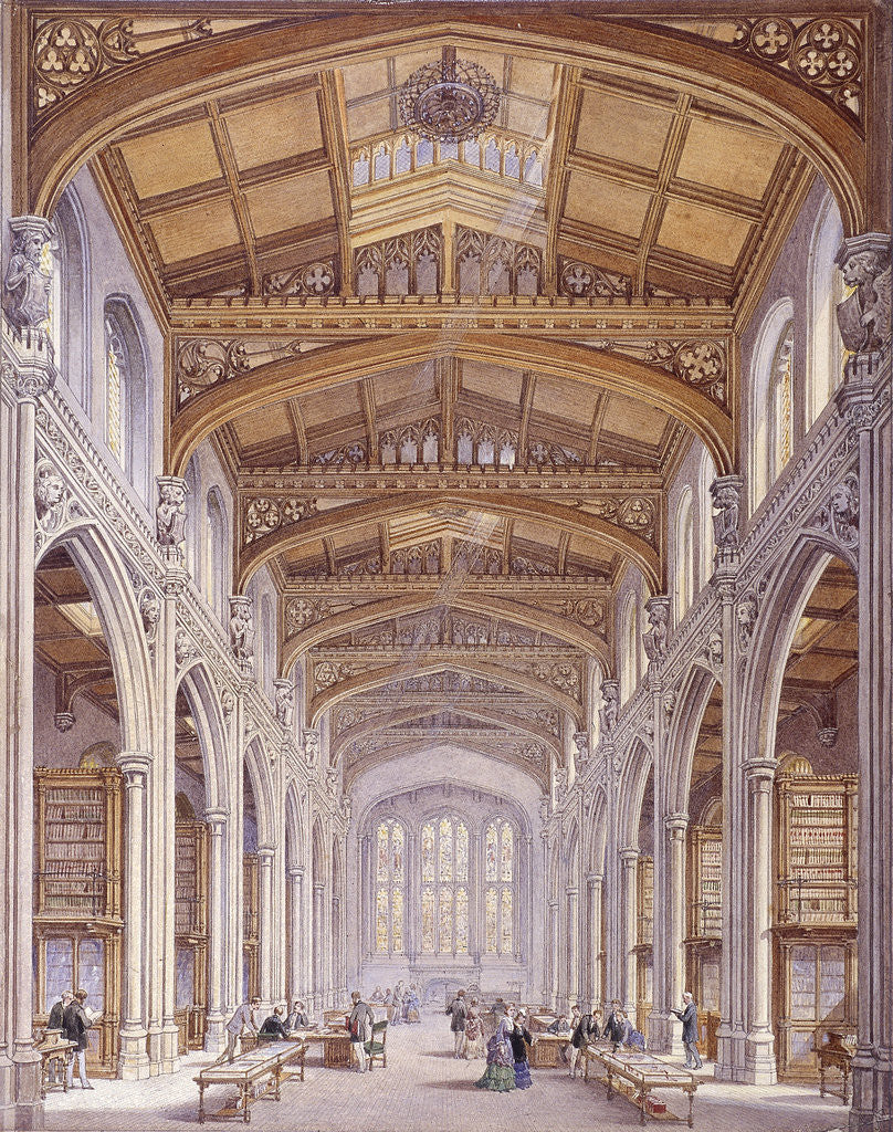 Detail of Guildhall Library, London by Edwin Thomas Dolby