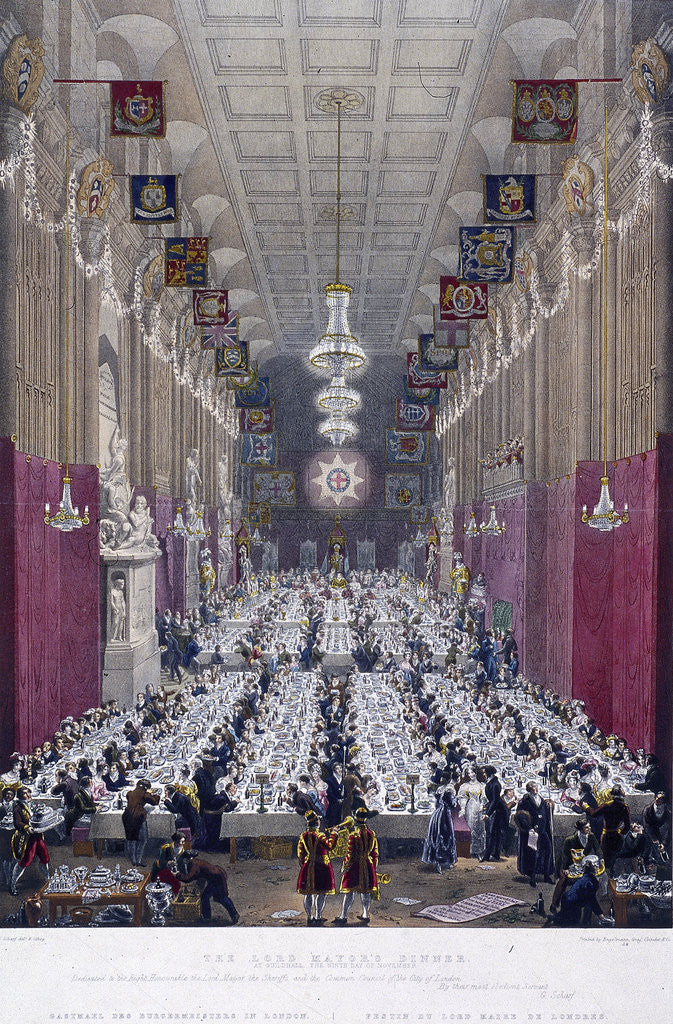 Detail of The Lord Mayor's Dinner at Guildhall, London by Anonymous