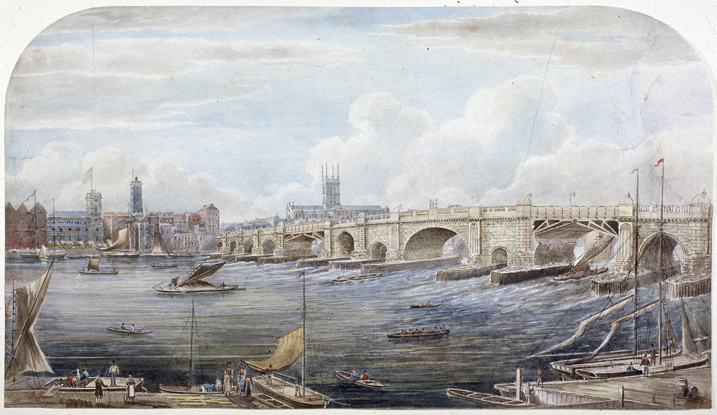 Detail of London Bridge (old), London by Anonymous