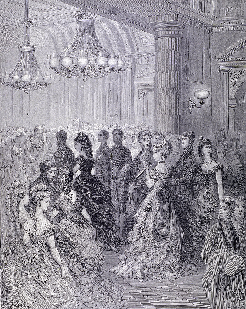 Detail of A Ball at the Mansion House by Journard