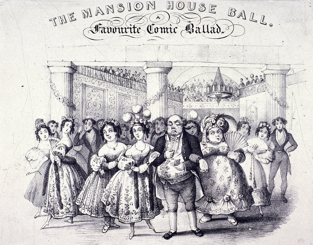 Detail of The Mansion House Ball, a Favourite Comic Ballad by Anonymous