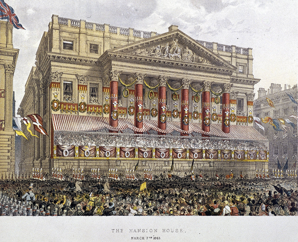 Detail of Mansion House (exterior), London by Day & Son