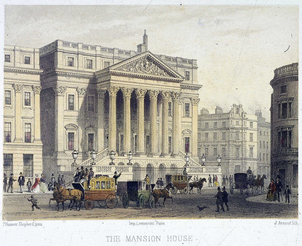 Detail of Mansion House (exterior), London by Jules Louis Arnout