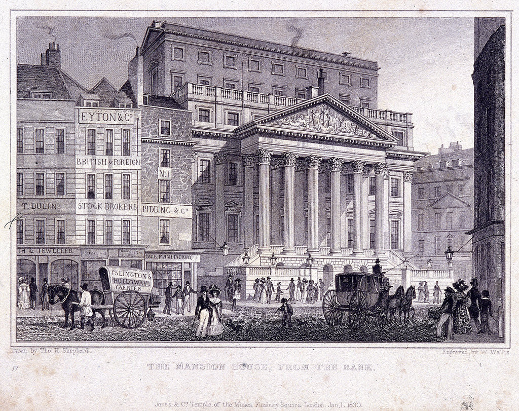 Detail of Mansion House (exterior), London by