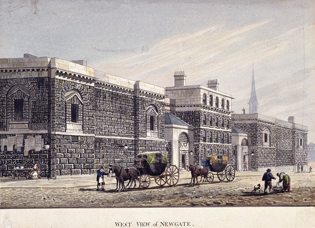 Newgate Prison, Old Bailey, London by George Shepherd