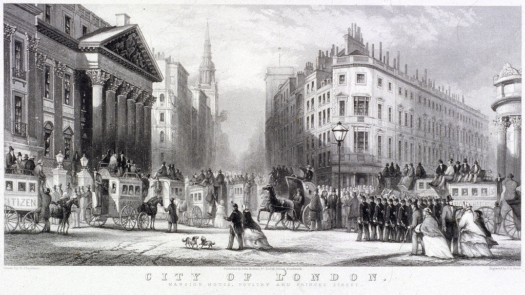 Mansion House (exterior), London by Thomas Abiel Prior