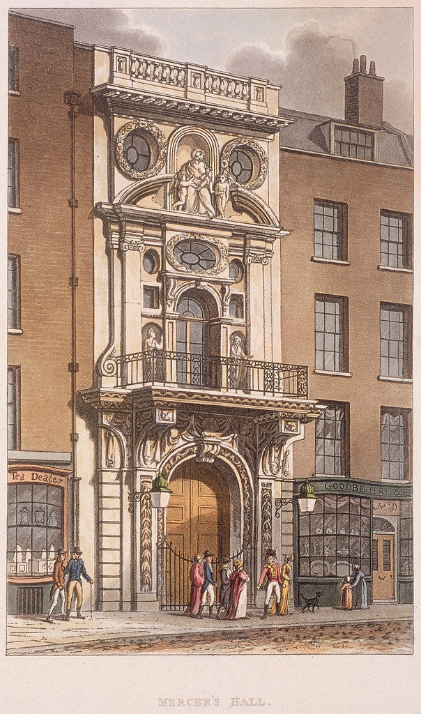 Detail of Mercers' Hall, London by Anonymous