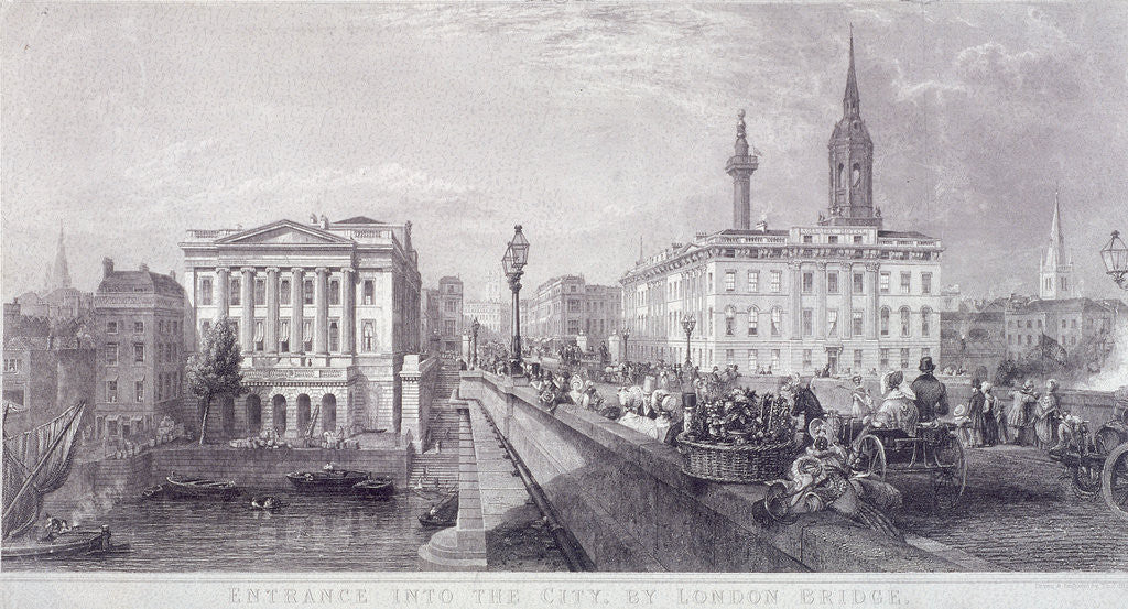 Detail of London Bridge (new), London by Thomas Higham