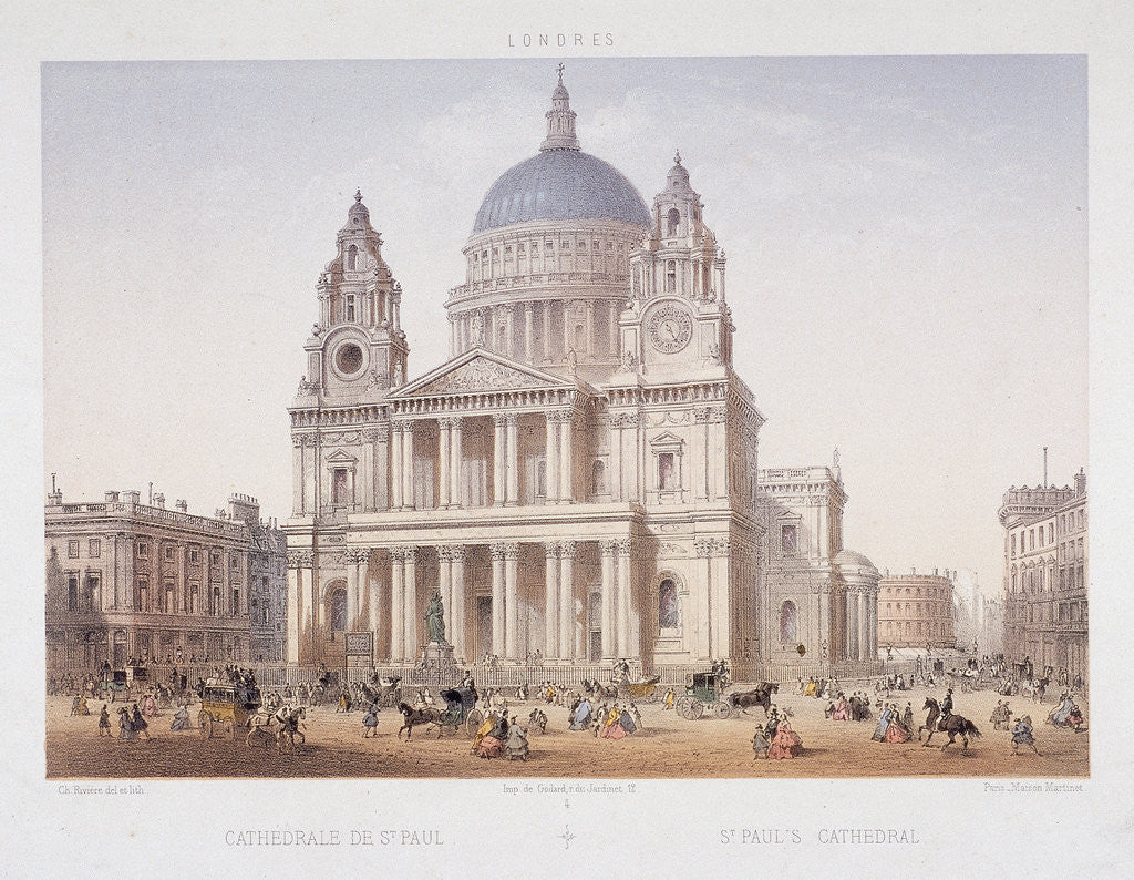 St Paul's Cathedral (new), London by Charles Riviere