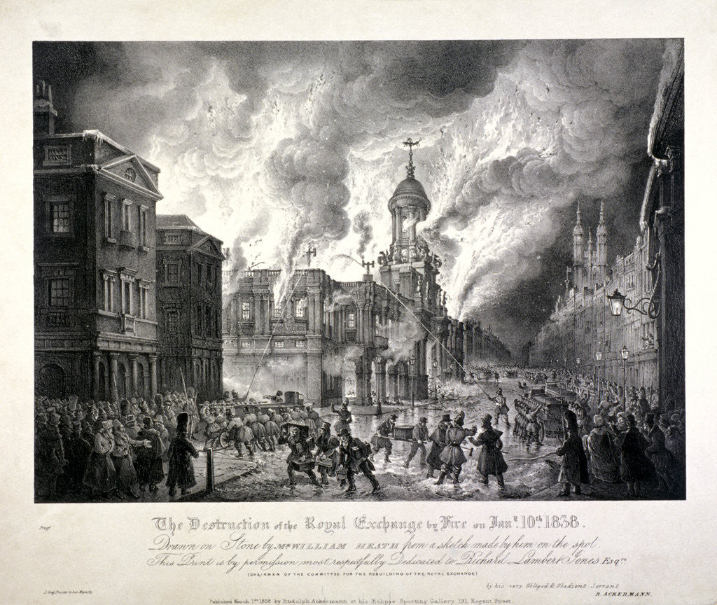 Detail of Royal Exchange (2nd) fire by