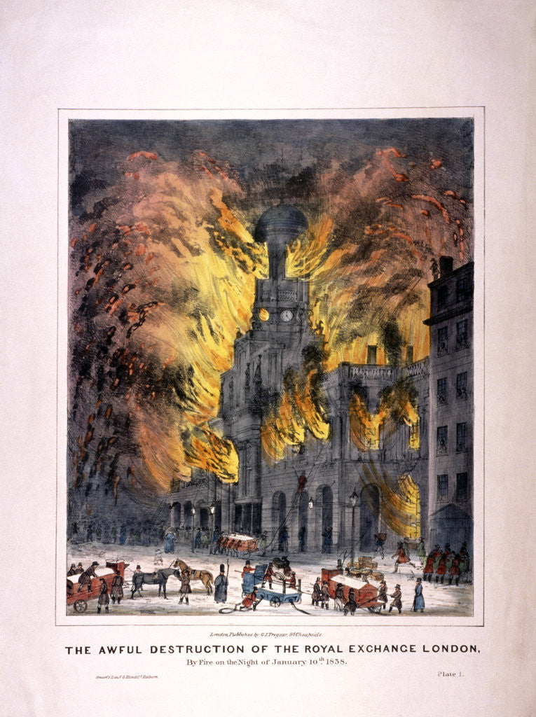 Detail of Royal Exchange (2nd) fire, London by Anonymous