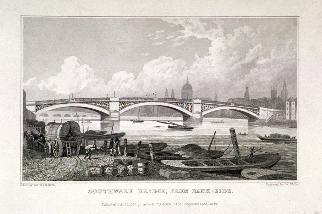 Detail of Southwark Bridge, London by